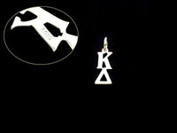 Kappa Delta Sorority Lavalier Necklace Sterling Silver - DKGifts.com