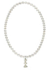 Kappa Delta Stretch Pearl Sorority Necklace Greek Sorority Pearl Necklace