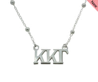 Kappa Kappa Gamma Beaded Floating Necklace Sorority Jewelry Necklace