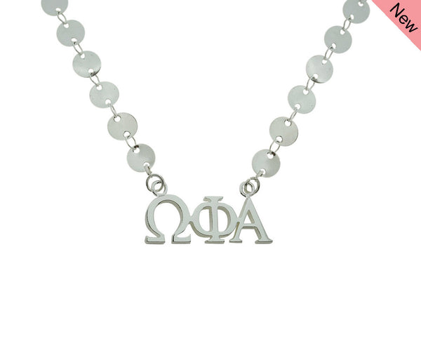 Omega Phi Alpha Sorority Jewelry Choker Floating Sorority Necklace
