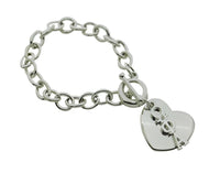 Omega Phi Alpha Rolo Sorority Bracelet with Heart on Toggle Clasp - DKGifts.com