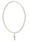 Omega Phi Alpha Stretch Pearl Sorority Necklace Greek Sorority Pearl Necklace