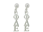 Phi Delta Epsilon Post Greek Sorority Earring - DKGifts.com