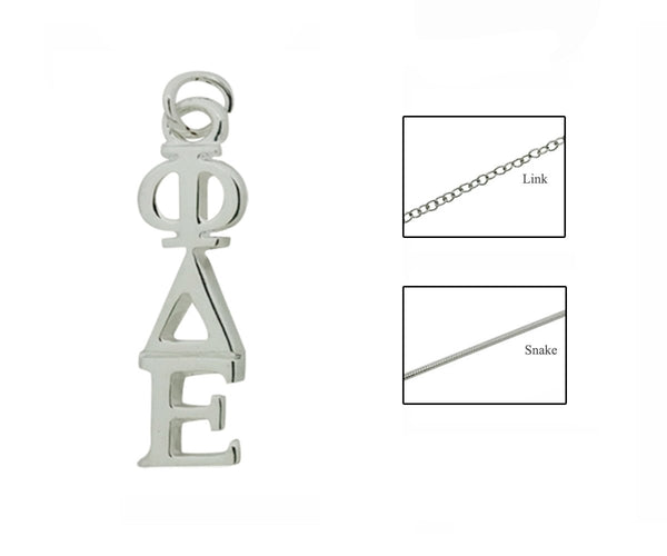 Phi Delta Epsilon Greek Sorority Lavalier Pendant Necklace - DKGifts.com