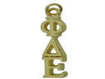 Phi Delta Epsilon Greek Sorority Lavalier Drop Charm Pendant Necklace Gold Filled