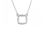 Phi Mu Quatrefoil Necklace Pendant Floating Necklace
