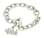 Phi Mu Sorority Bracelet with Toggle Clasp - DKGifts.com