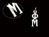 Phi Mu Sorority Lavalier Necklace Sterling Silver - DKGifts.com