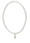 Phi Mu Stretch Pearl Sorority Necklace Greek Sorority Pearl Necklace