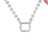 Phi Mu Quatrefoil Sorority Jewelry Choker Floating Sorority Necklace