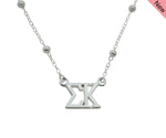 Sigma Kappa Beaded Floating Necklace Sorority Jewelry Necklace