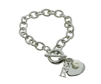 Sigma Kappa Sorority Bracelet with Heart and Pearl Dangle - DKGifts.com