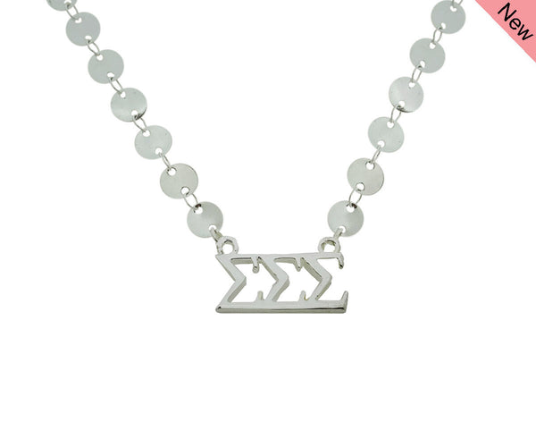Tri Sigma Sigma Sigma Sorority Jewelry Choker Floating Sorority Necklace