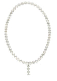 Tri Sigma Sigma Sigma Stretch Pearl Sorority Necklace Greek Sorority Pearl Necklace