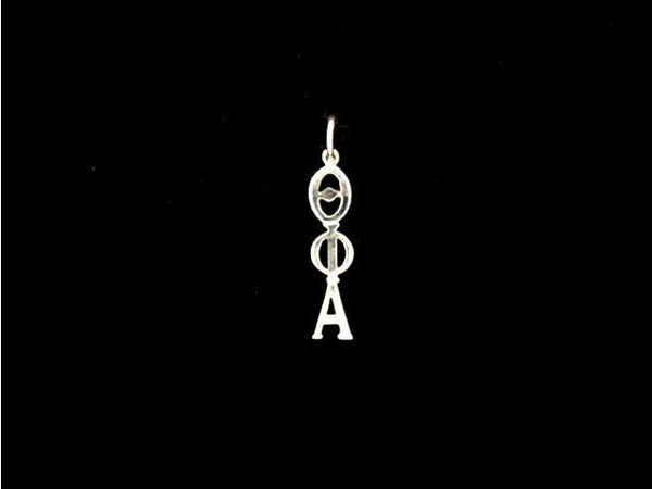 Theta Phi Alpha Sorority Lavalier Necklace Sterling Silver - DKGifts.com