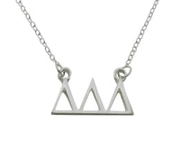 Tri Delta Delta Delta Floating Sorority Lavalier Necklace - DKGifts.com