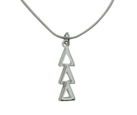 Tri Delta Delta Delta Greek Sorority Lavalier Charm Drop Necklace - DKGifts.com