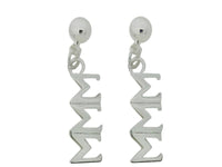 Tri Sigma Sigma Sigma Post Greek Sorority Earring - DKGifts.com