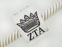 Zeta Tau Alpha Crown Barrel Bead ZTA Sorority Bead to Fit Story Bracelet
