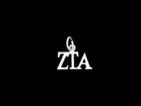 Horizontal Zeta Tau Alpha Greek Sorority Lavalier Drop Charm Pendant