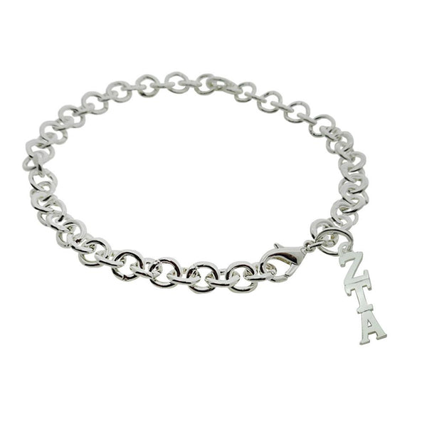 Zeta Tau Alpha Rolo Sorority Bracelet with Lobster Clasp - DKGifts.com
