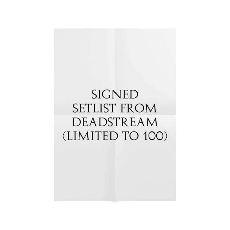 Creatures Deadstream Signed Set List