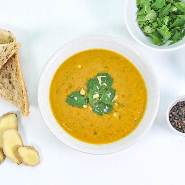 Yam, Lentil, and Ginger Soup