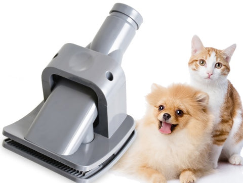 Brush and hair vacuum for dog and cat