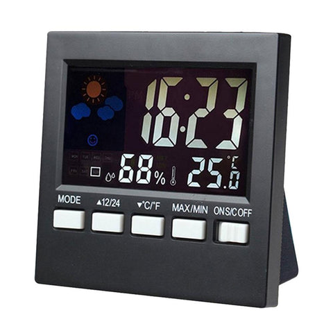 wall clock, table clocks, modern alarm clock, led clocks, LED, Humidity, electronic clock, electronic, digital clocks, digital alarm, desktop clock, Clock Watches, clock, Charminar, changeable, Alarm Clock Kids Weather Forecast, alarm