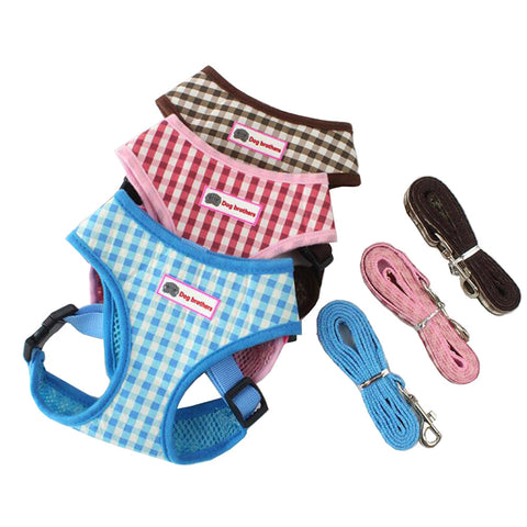 Plaid Adjustable Puppy Harness