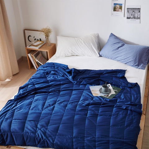 100% Cotton Blanket for deep Sleep & ant-anxiety