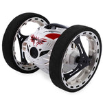 Bouncing robot with flexible wheel