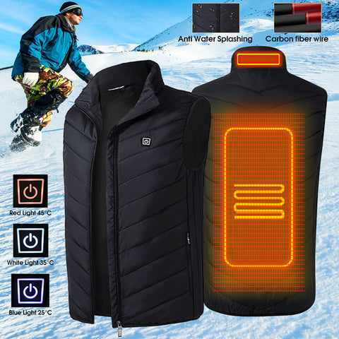 Men's Heated Jacket USB Sleeveless
