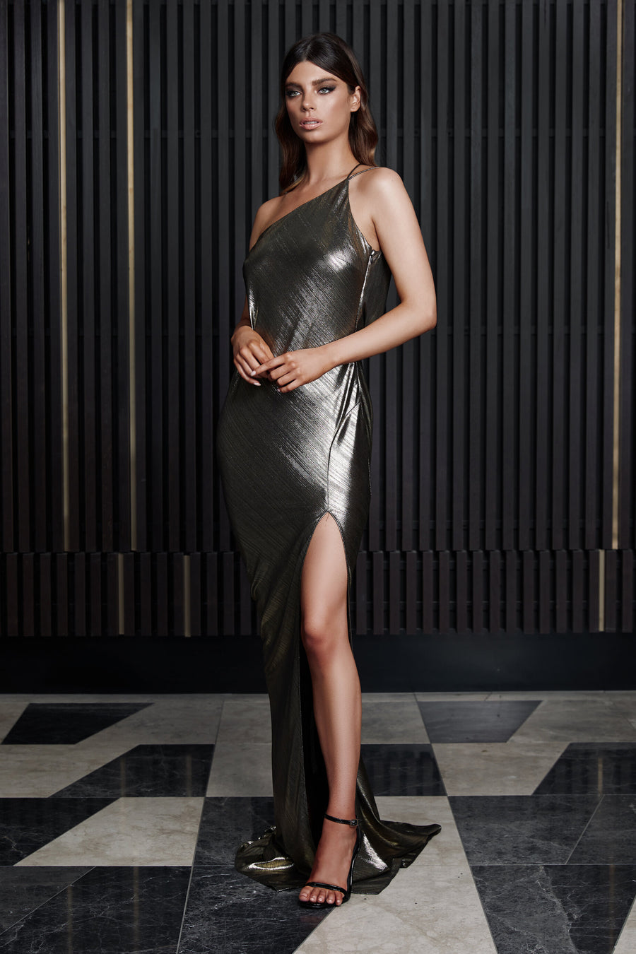 ARIELLE DRESS | METALLIC
