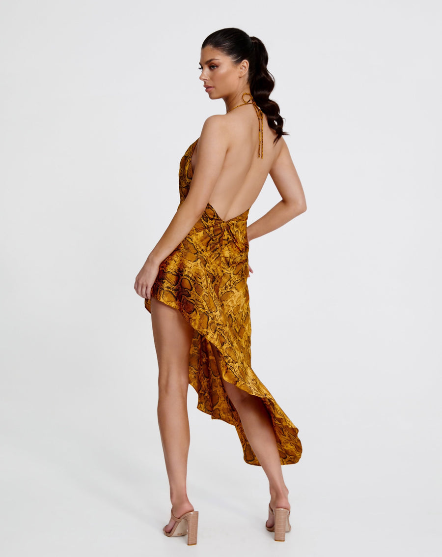LEILA DRESS | YELLOW SNAKE