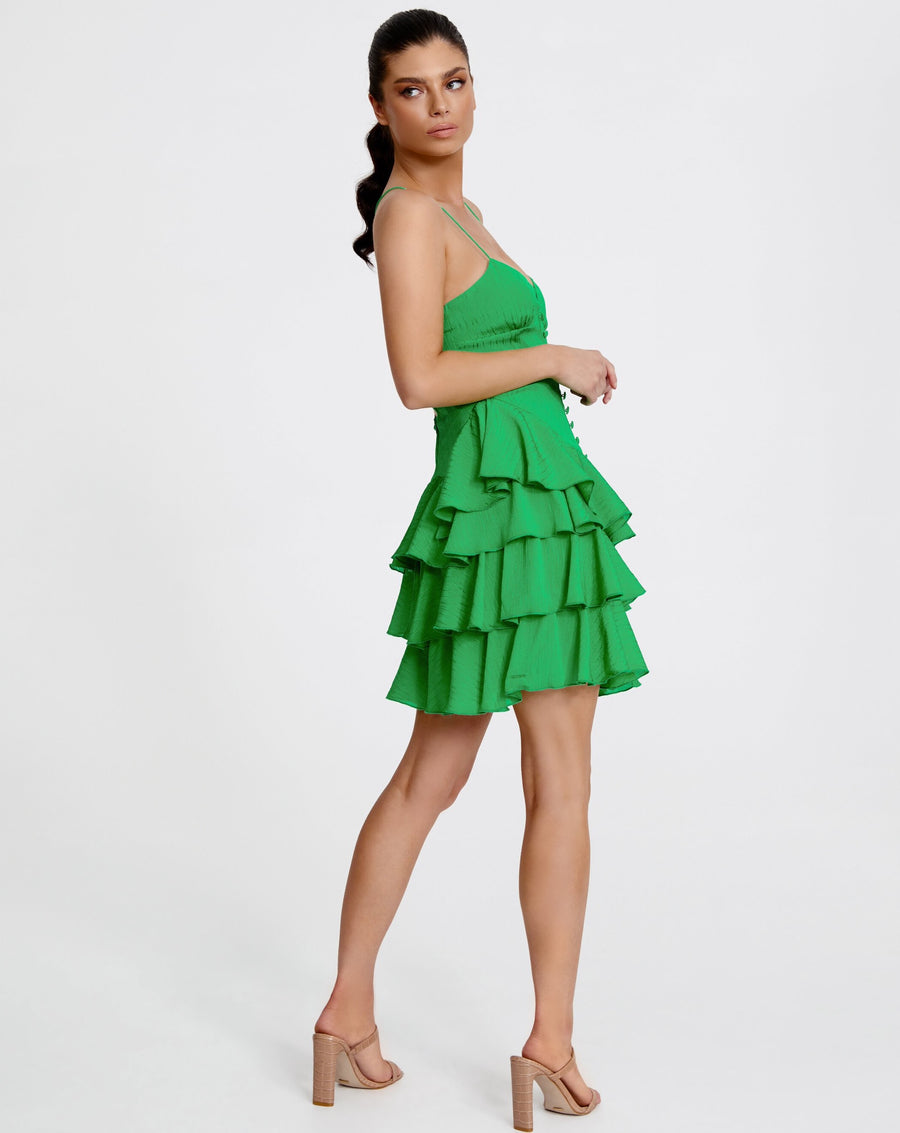BARCELONA MINI DRESS | EMERALD