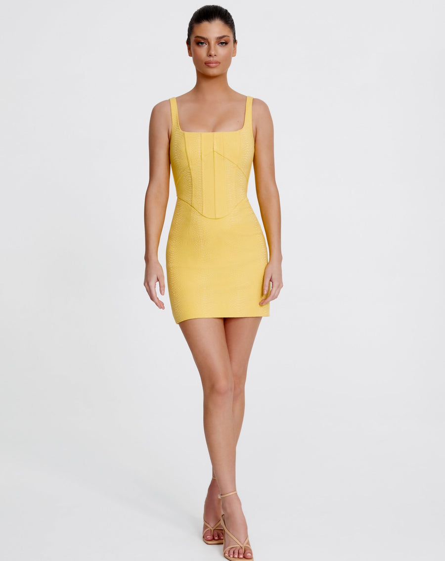 NATALIA MINI DRESS | YELLOW