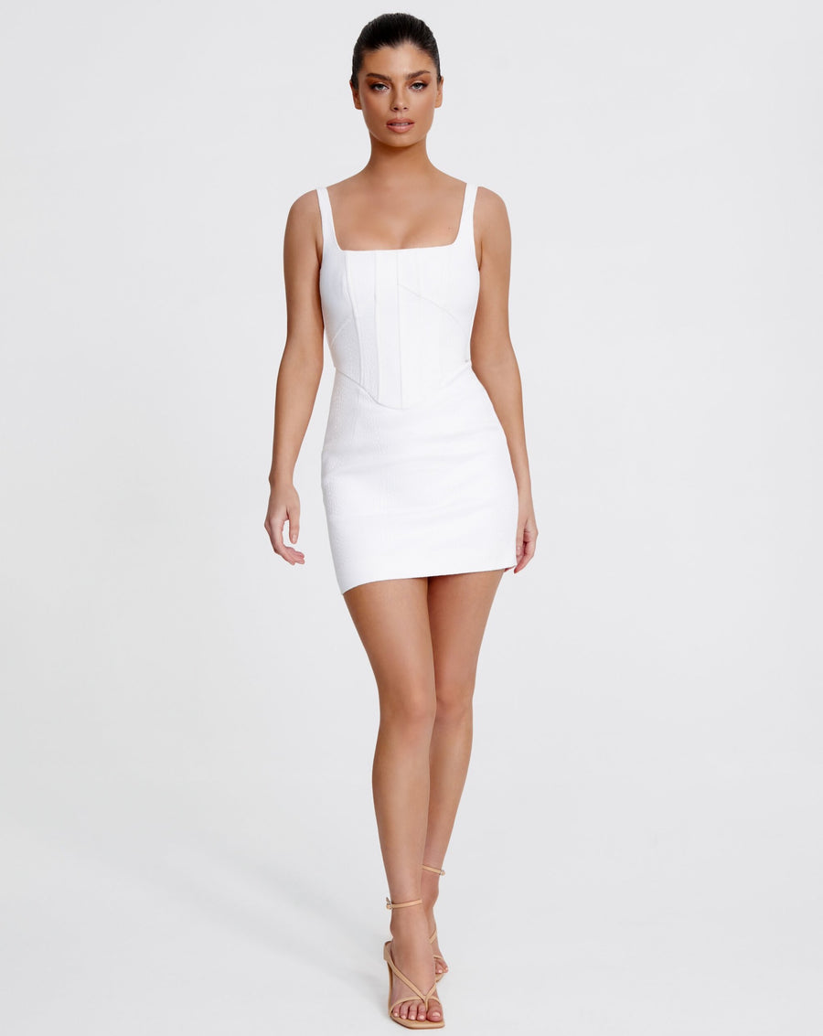 NATALIA MINI DRESS | WHITE