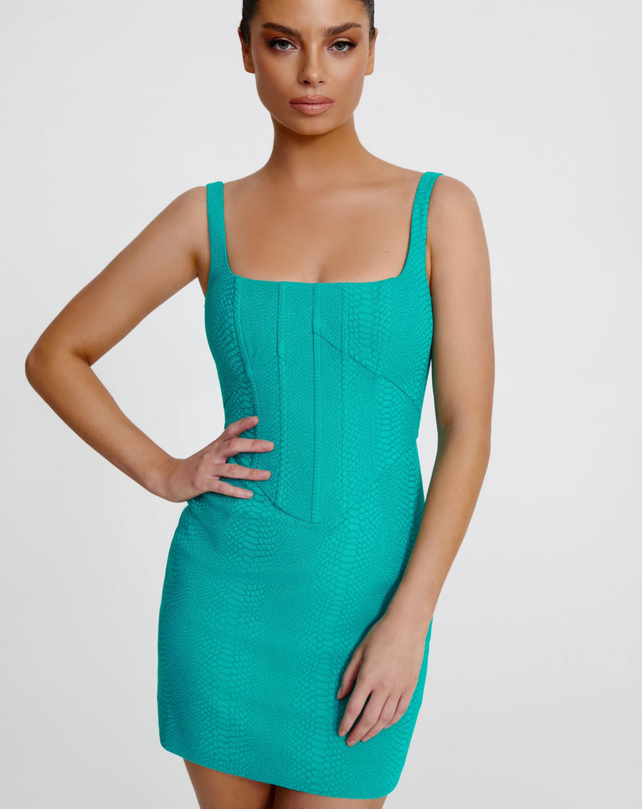 NATALIA MINI DRESS | TEAL