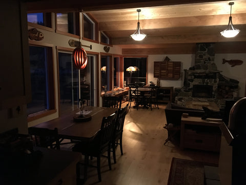 off-grid cabin living room ceiling lighting 3 watt 48 volt direct current