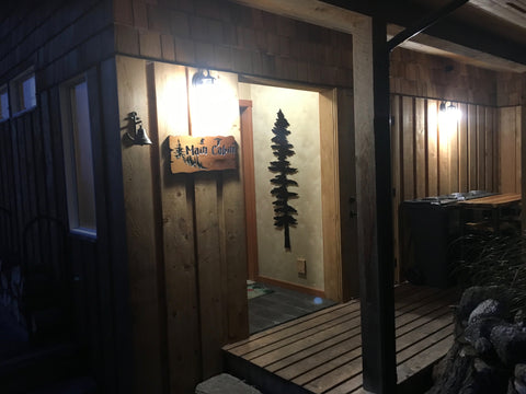 off-grid cabin exterior LED lighting 3 watt 48 volt direct current