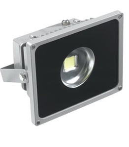 30W LED Flood Light 90 Degree 110/240VAC - grey housing with black covering the front glass to limit beam angle to 90 degrees