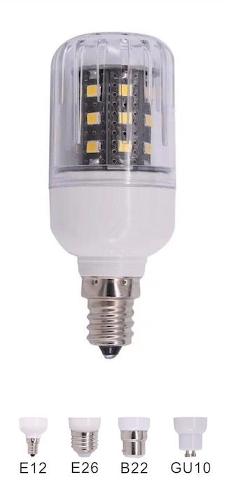 5 Watt LED Corn Bulb | 24V DC | B22 Bayonet Base