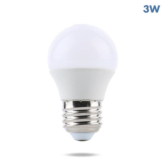 Watt-a-Light LED light bulb 3 Watt 32 volt DC frosted bulb and copper chrome base