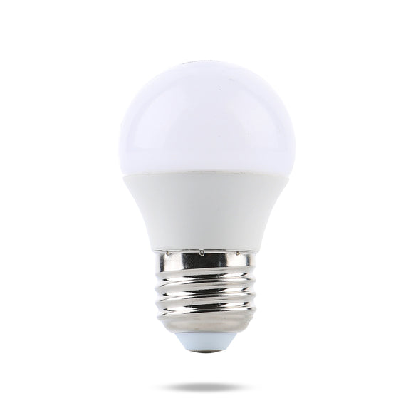Watt-a-Light LED light bulb 1 Watt 24 volt DC frosted bulb and copper chrome base