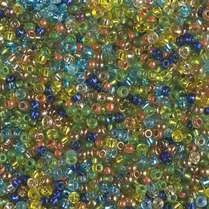 11-MIX-38 - 11/0 Miyuki Seed Bead Mix, Egyptian Lapis Stripe | 125 Grams