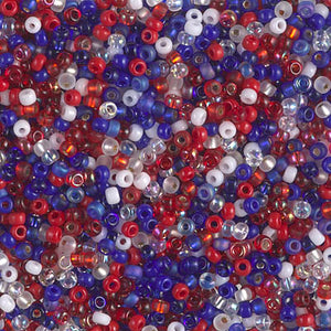 11-MIX-43 - 11/0 Miyuki Seed Bead Mix, Fourth of July | 125 Grams