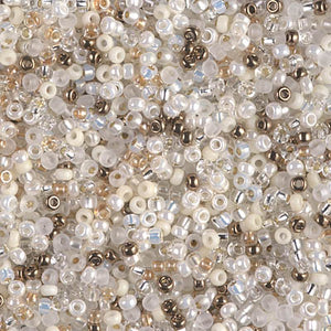 11-MIX-47 - 11/0 Miyuki Seed Bead Mix, White Wedding | 125 Grams