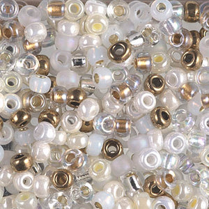 6-MIX-30 - 6/0 Miyuki Seed Bead Mix, White Wedding | 125 Grams