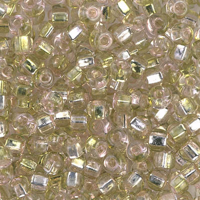 6S-3279 - 6/0 Sq Hole Rococo S/L Pink Chartreuse Miyuki Seed Bead | 125 Grams